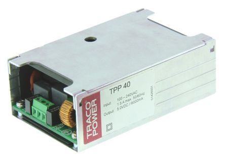 TRACOPOWER , 40W Embedded Switch Mode Power Supply SMPS, 15V dc, Enclosed, Medical Approved