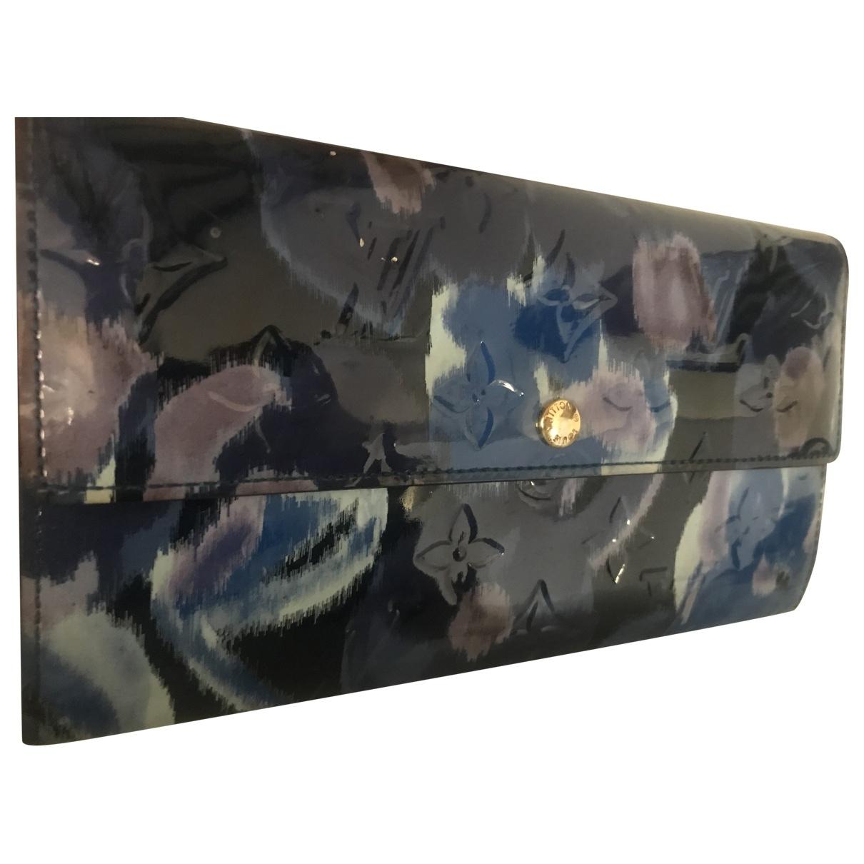 Louis Vuitton - Portefeuille   pour femme en cuir verni - bleu