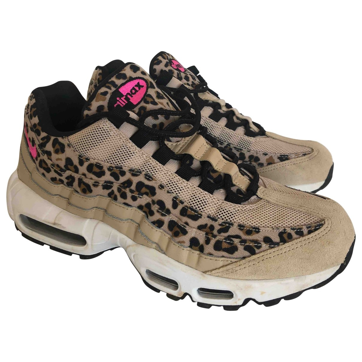 Nike Air Max 95 Beige Leather Trainers for Women 7 UK