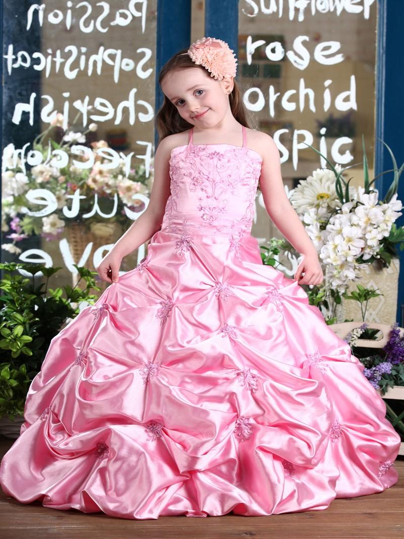 Ericdress Ball Gown Embroidery Sequins Pick-Ups Flower Girl Dress