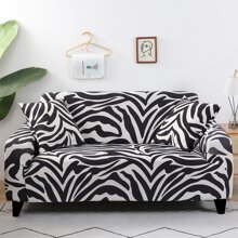 Zebra Pattern Sofa Cover Without Cushion