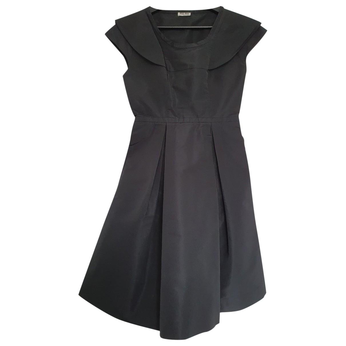 Miu Miu \N Kleid in  Schwarz Polyester