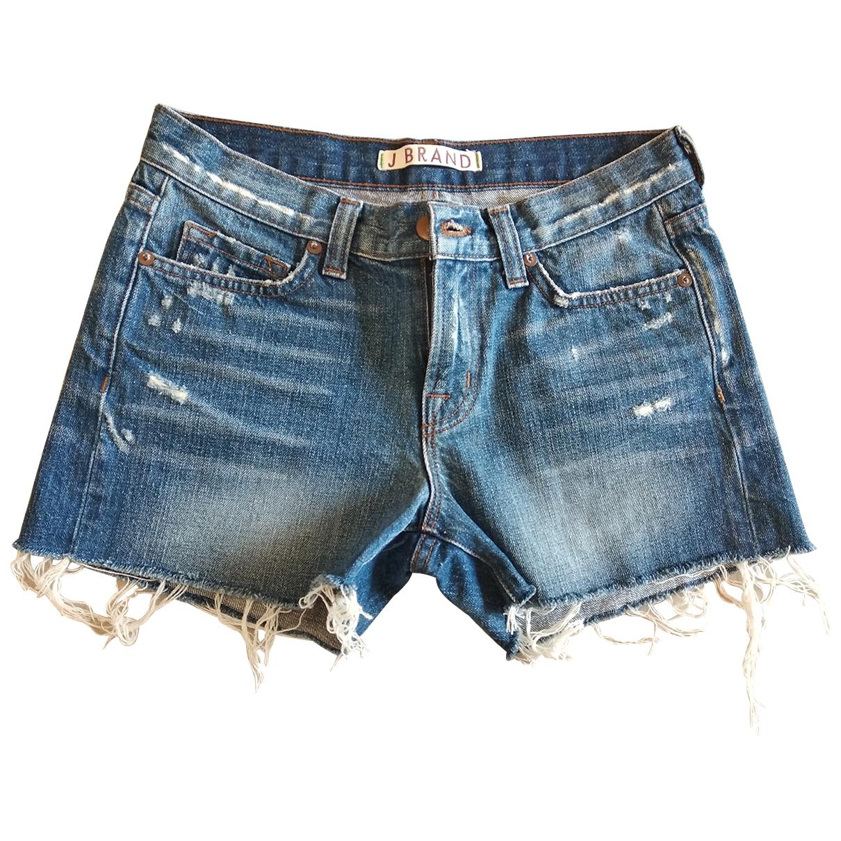 J Brand - Short   pour femme en denim - bleu