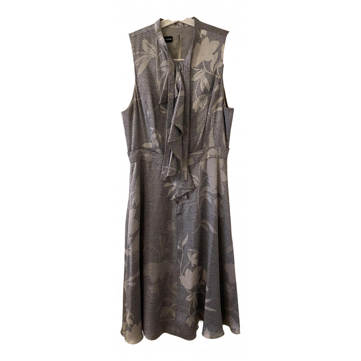 Emporio Armani \N Kleid in  Grau Seide