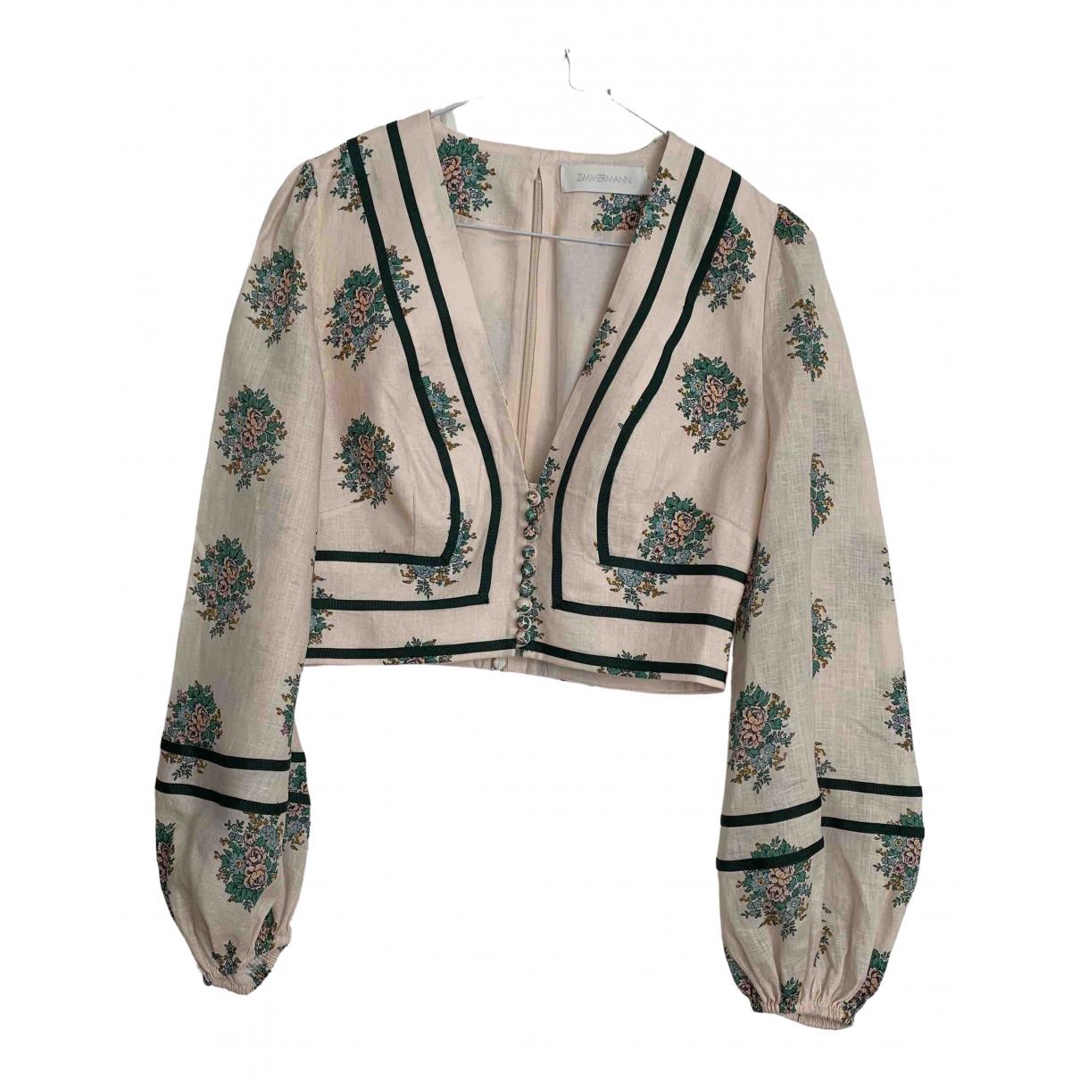 Zimmermann - Veste   pour femme en lin - beige