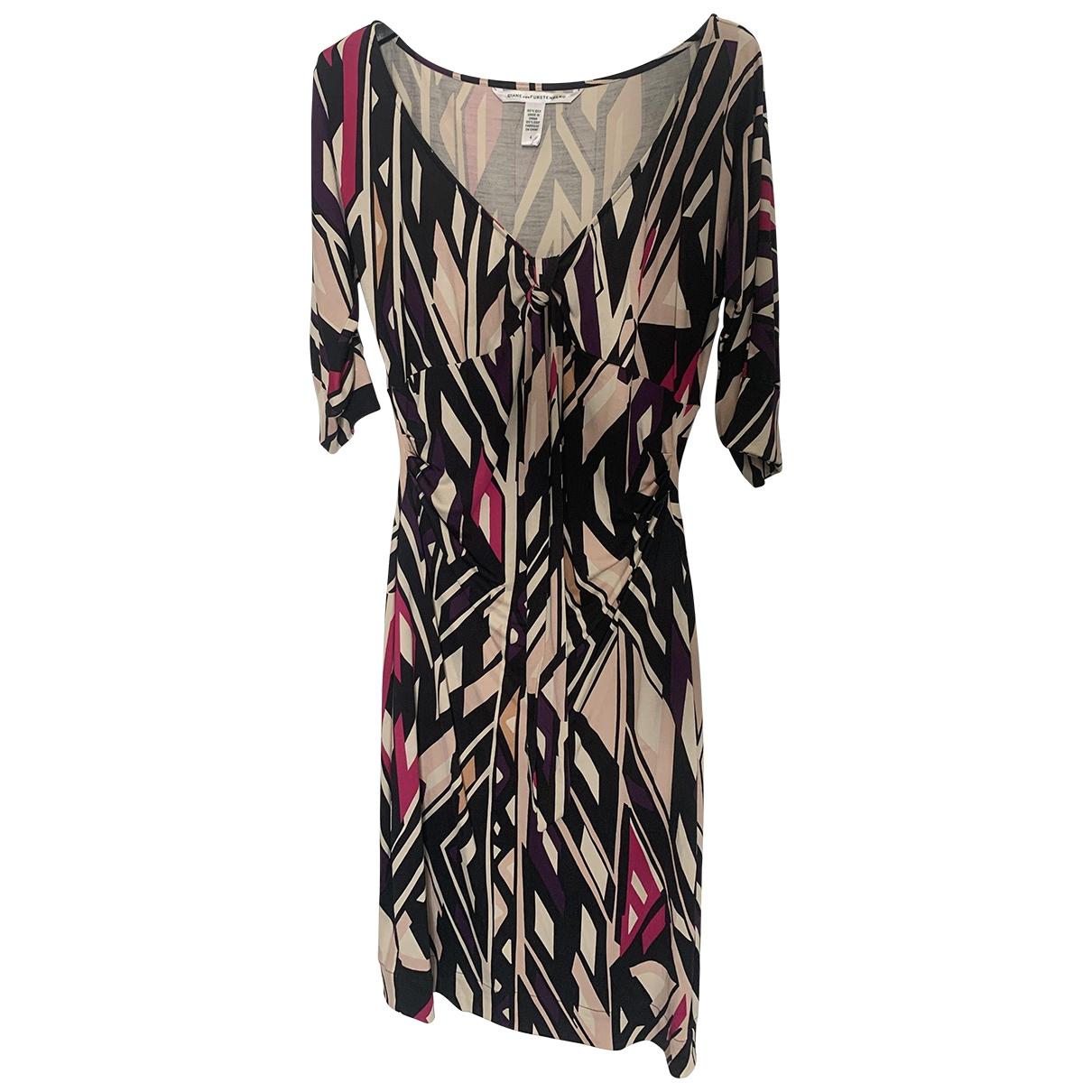 Diane Von Furstenberg - Robe   pour femme en soie - multicolore