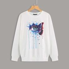 Pullover mit Tropfen und Augen Muster