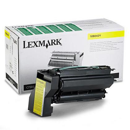 Lexmark 10B042Y cartouche de toner du programme retour originale jaune haute capacité