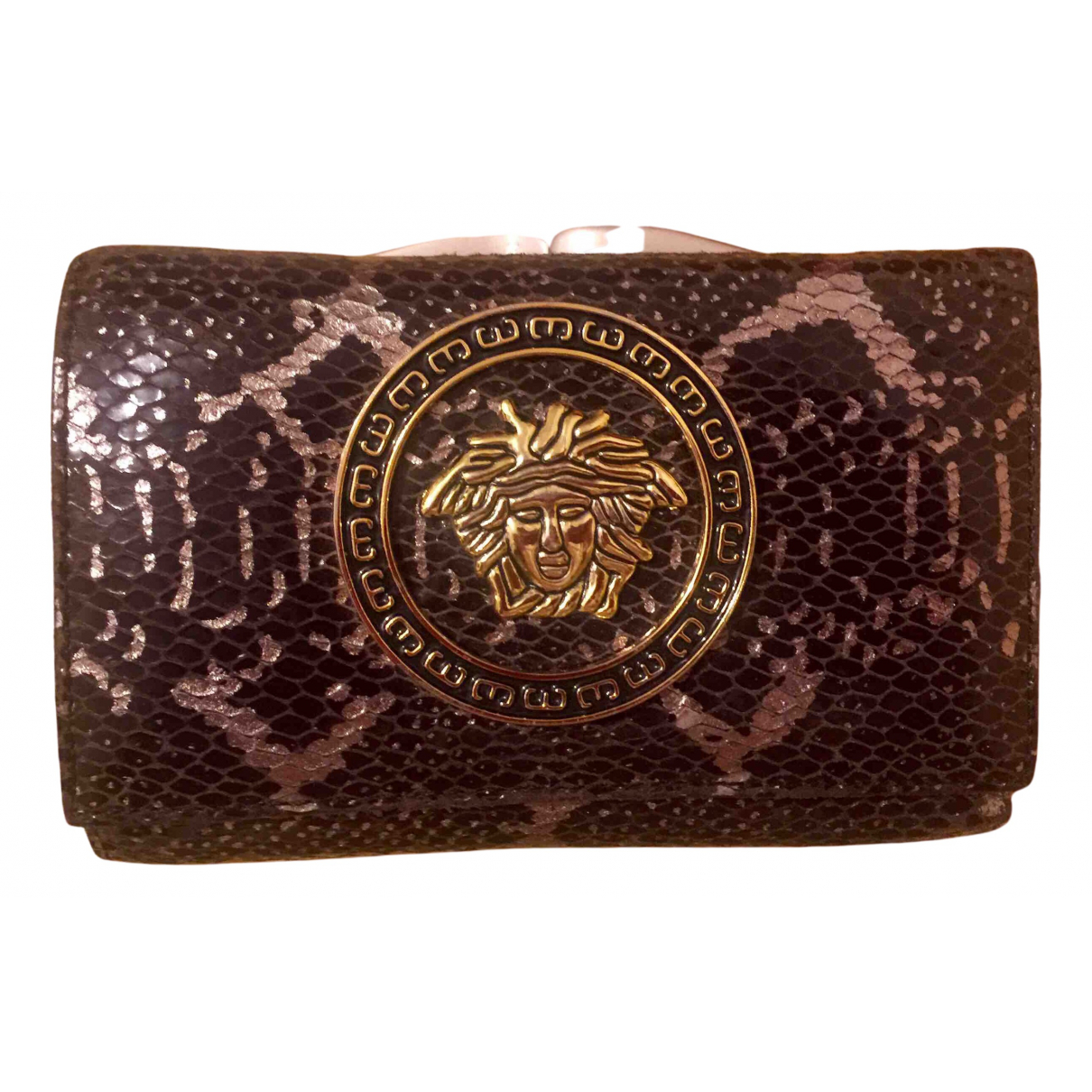 Versace \N Portemonnaie in  Bunt Python