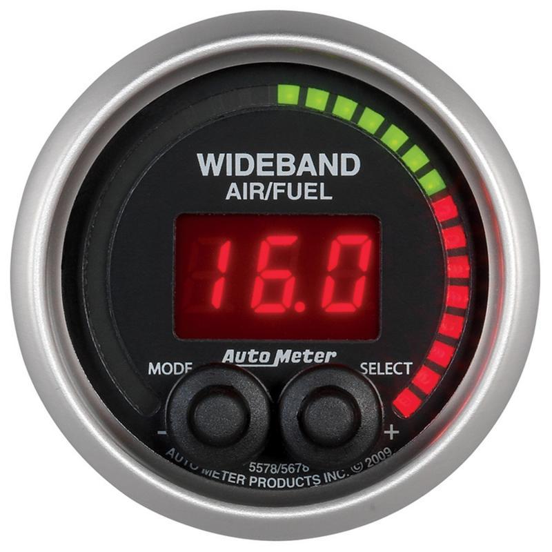 AutoMeter GAUGE; AIR/FUEL RATIO-PRO; 2 1/16in.; 10:1-20:1; DIGITAL W/PEAK/WARN; ELITE