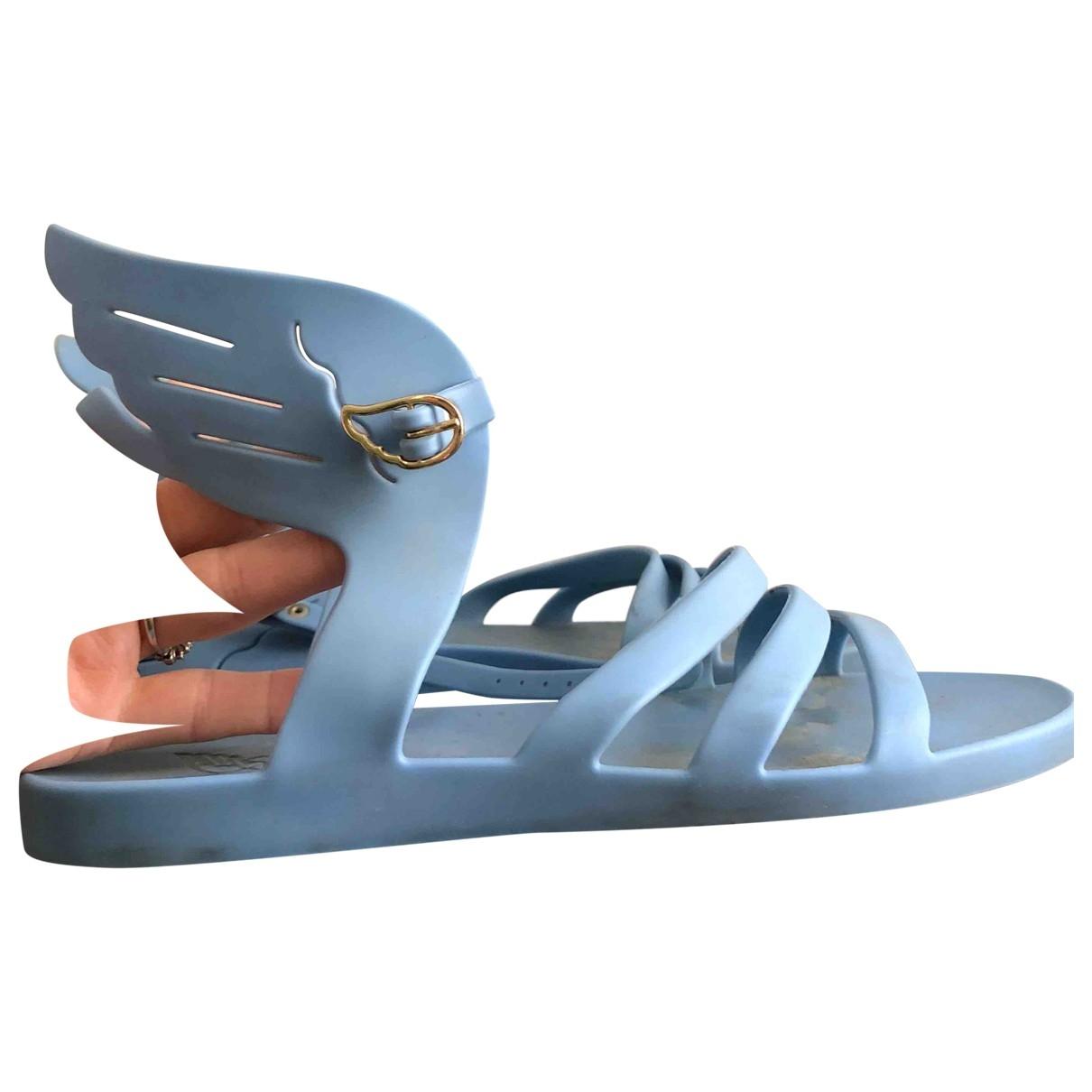 Ancient Greek Sandals \N Turquoise Rubber Sandals for Women 38 EU