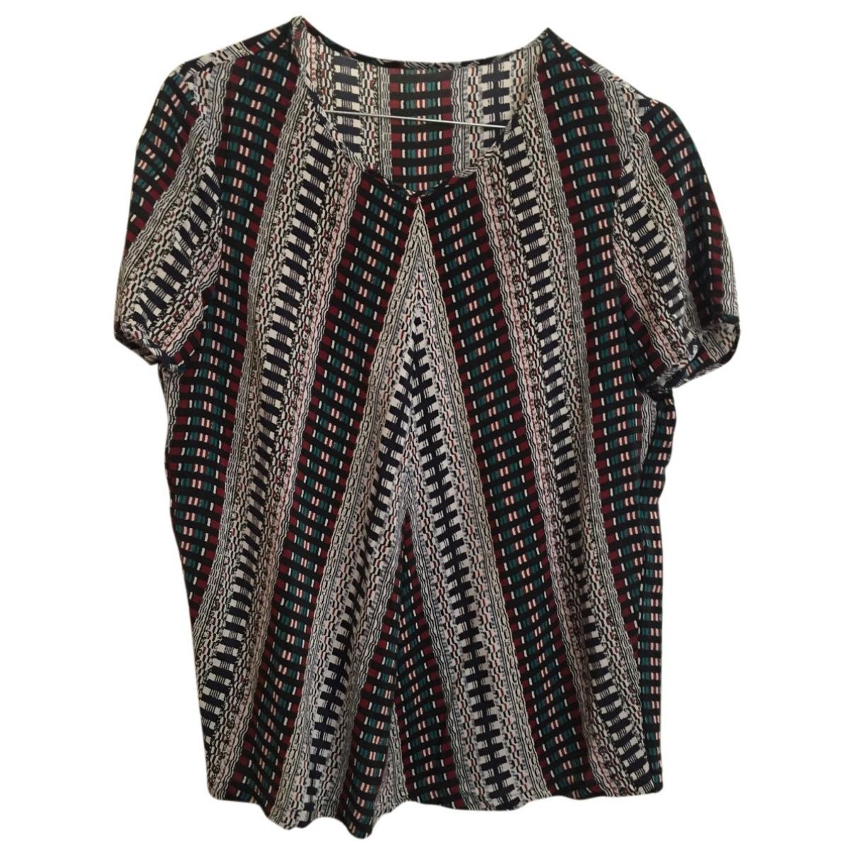 Maje - Top   pour femme en soie - multicolore