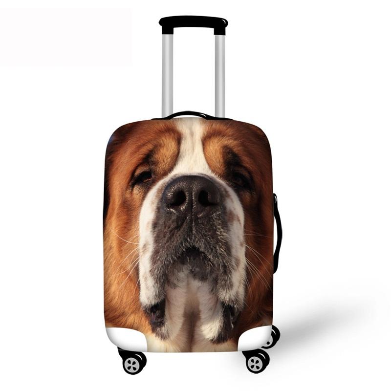 3D Pattern Heartbroken Dog Waterproof Suitcase Protector 19 20 21
