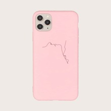1pc Line Drawing Print iPhone Case