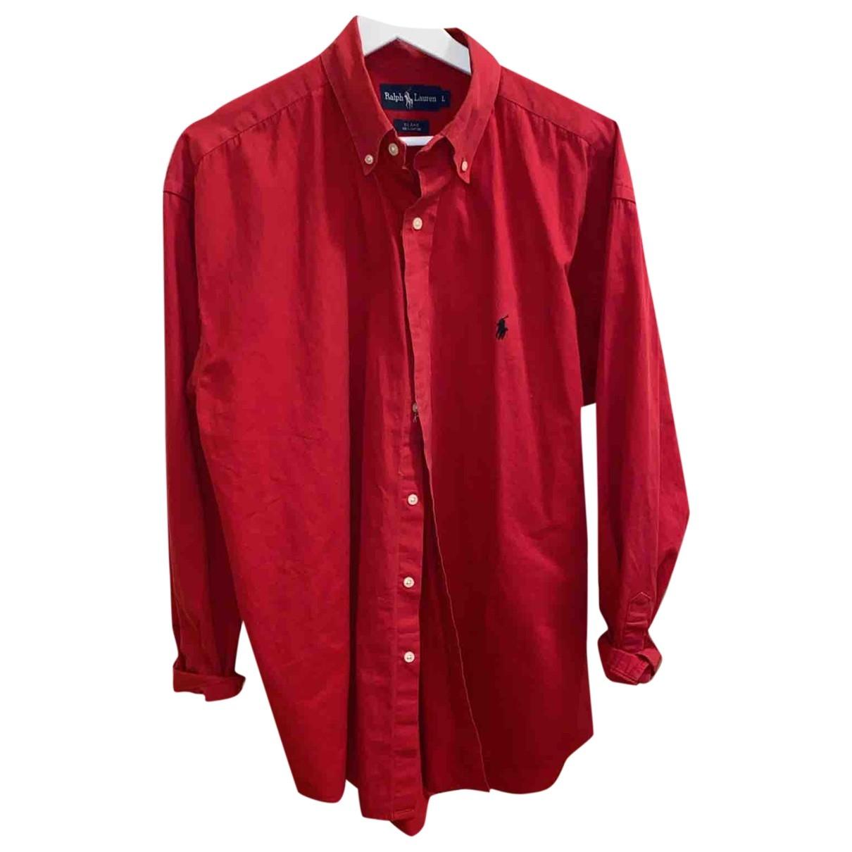 Ralph Lauren \N Lederjacke in  Rot Denim - Jeans