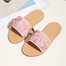 Toddler Girls Sequin Decor Slides