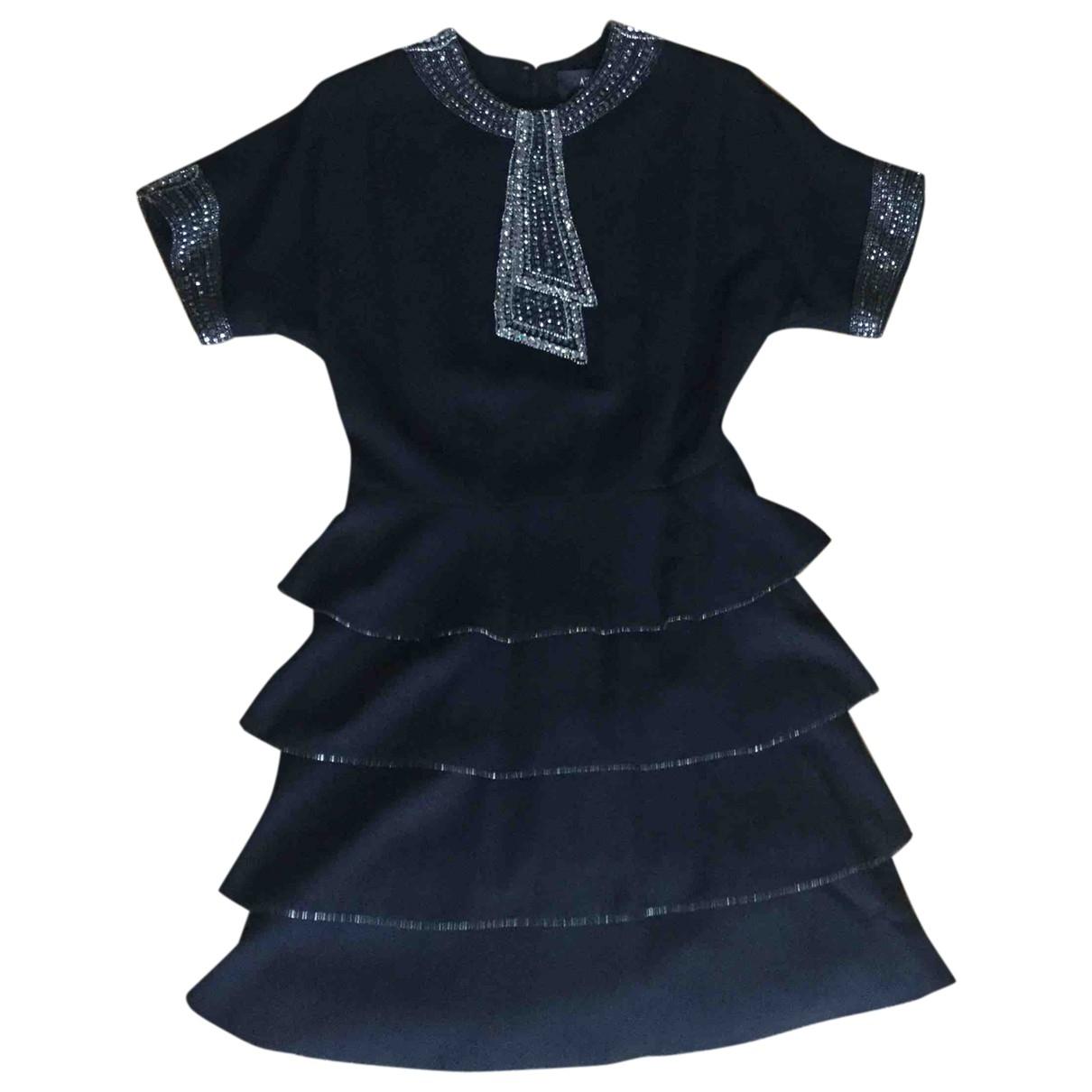Azzaro \N Kleid in  Schwarz Wolle