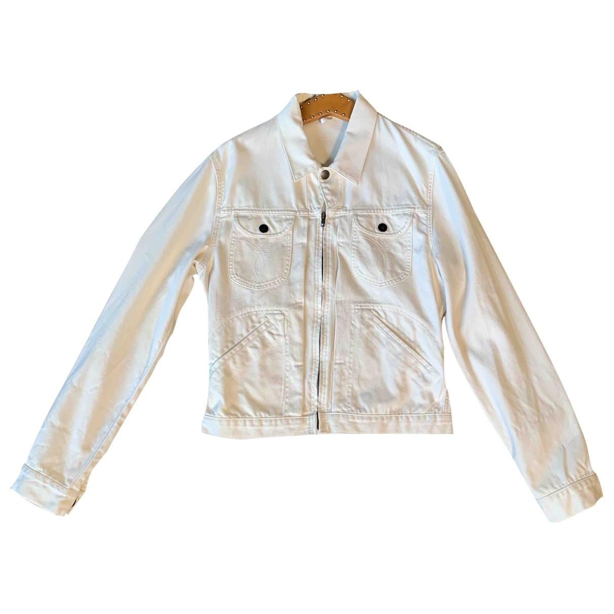 Gucci \N Jacke in  Weiss Denim - Jeans