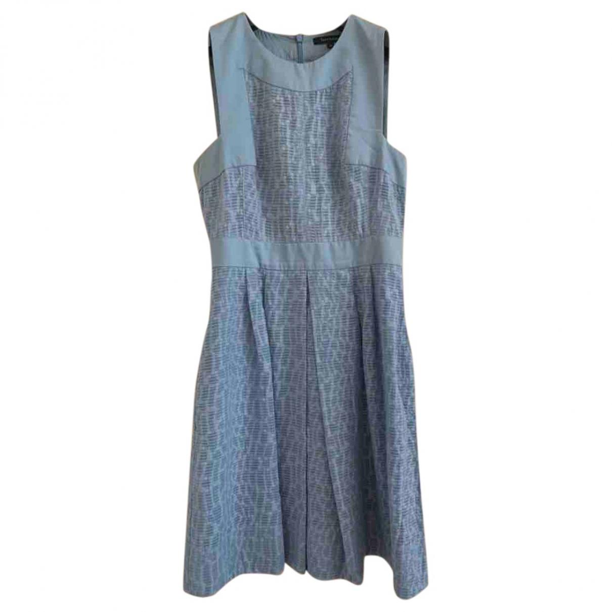 Tara Jarmon \N Blue Silk dress for Women 36 FR