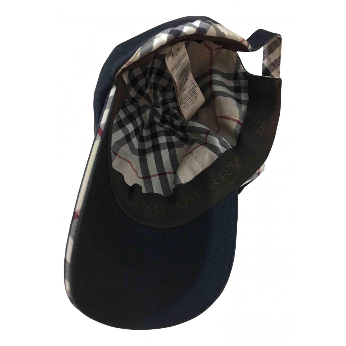 Burberry \N Hut, Muetzen, Handschuhe in  Marine Baumwolle