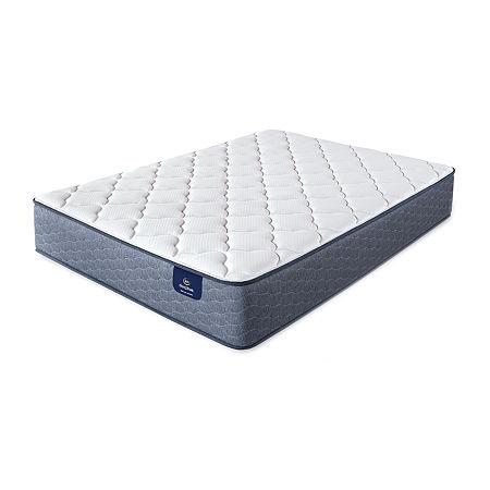 Serta Sleeptrue Culberson Plush - Mattress Only, One Size , White