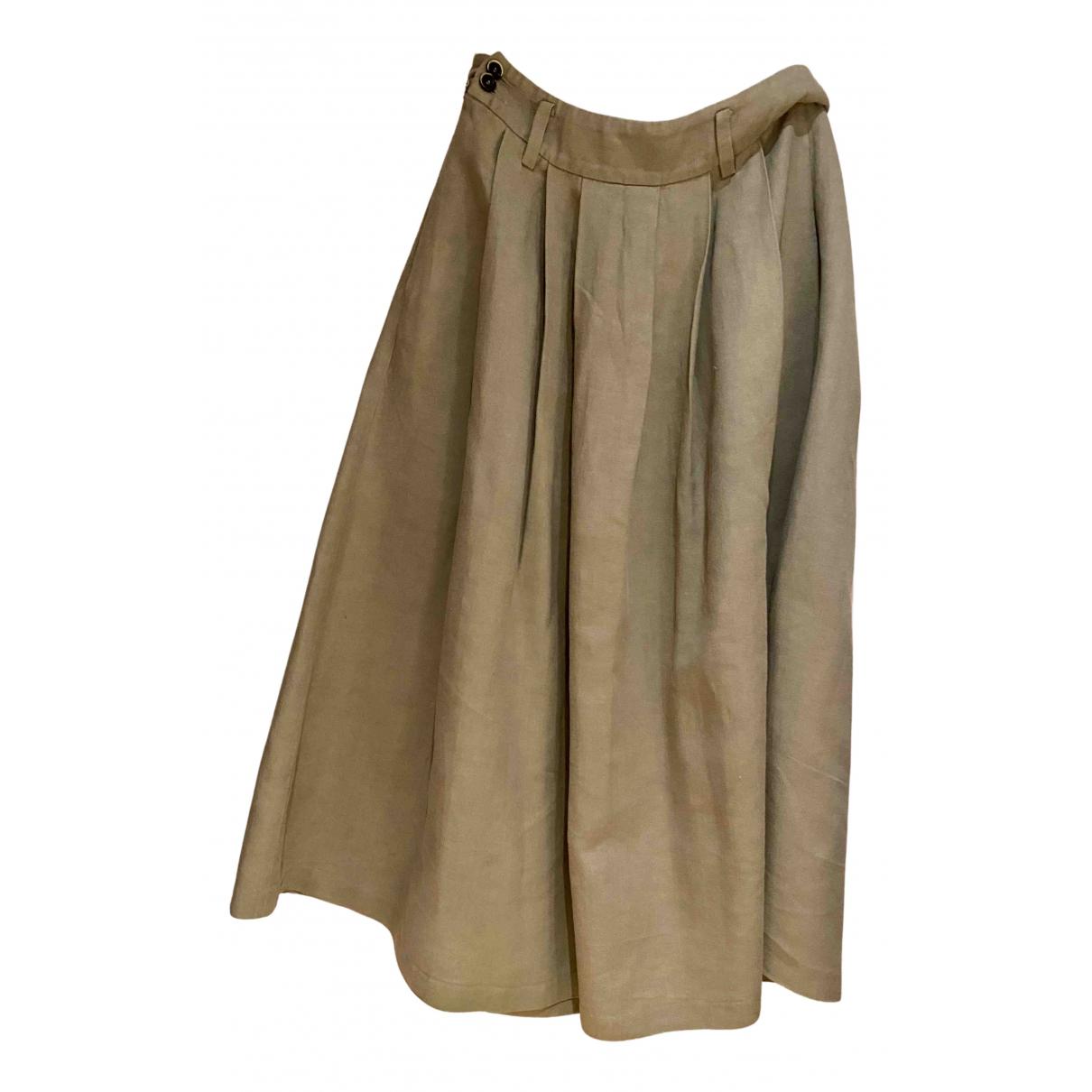 Forte_forte - Jupe   pour femme en lin - gris