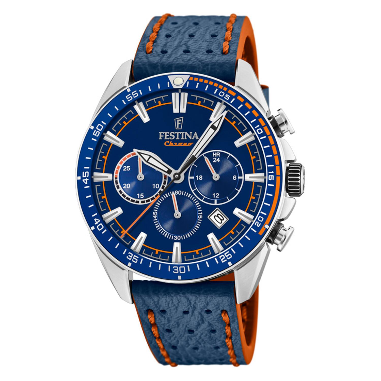 Festina Men's The Originals F20377-2F37 Blue Leather Quartz Fashion Watch