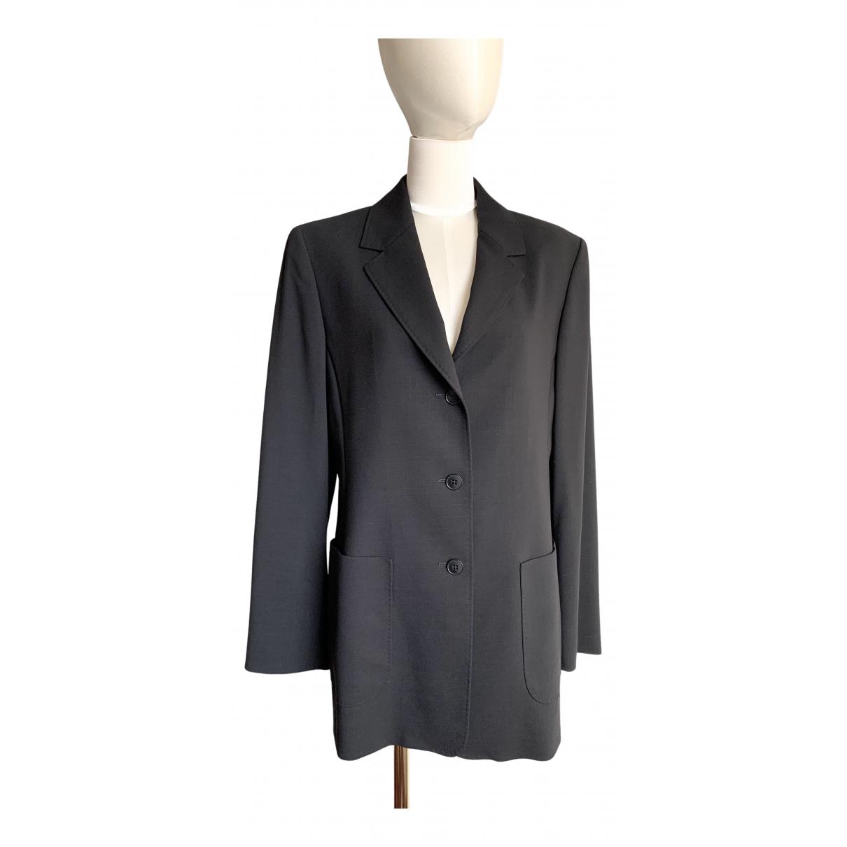 Max Mara N Black Wool jacket for Women 42 IT