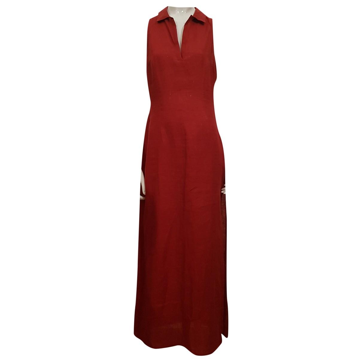 Max & Co \N Kleid in  Rot Leinen