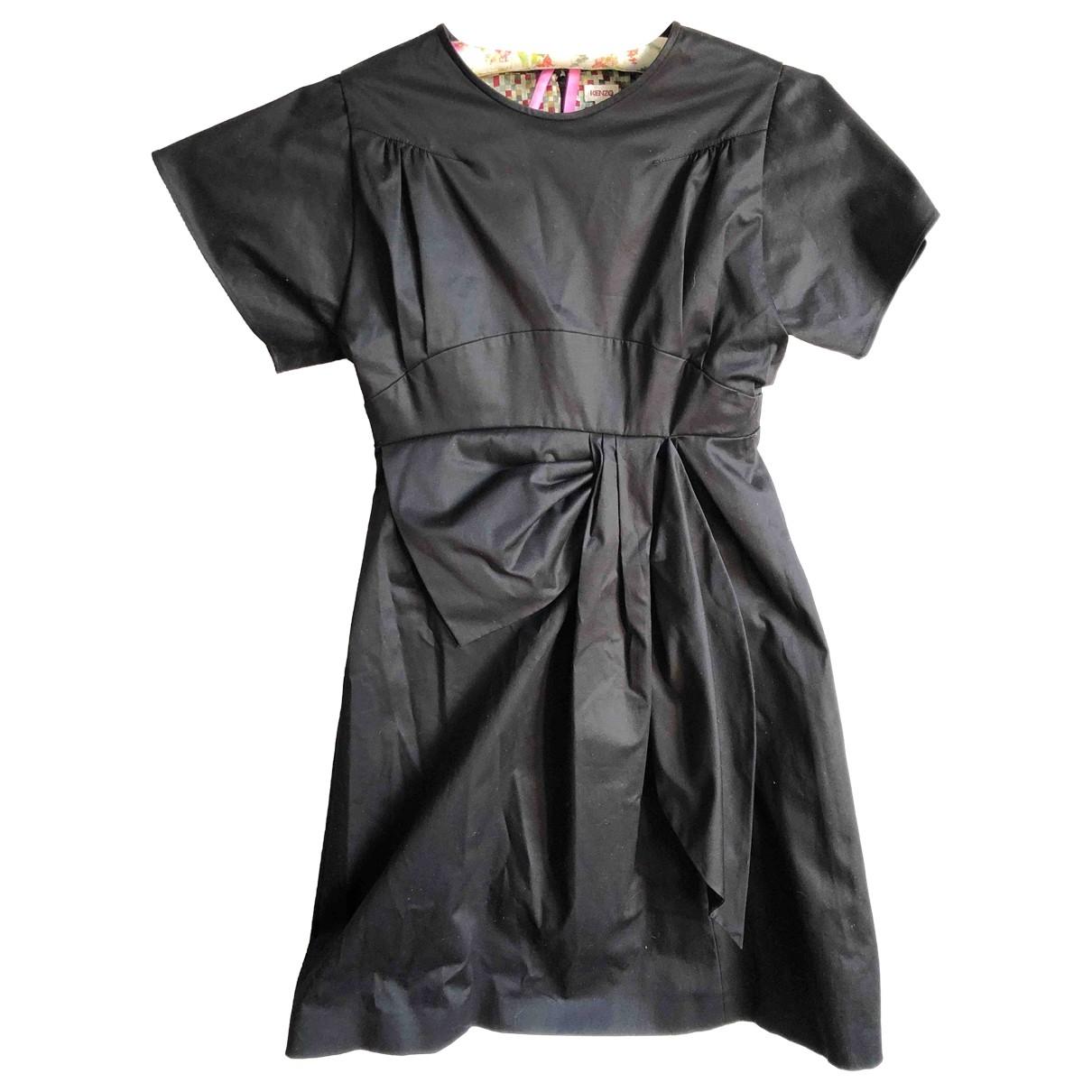 Kenzo \N Kleid in  Schwarz Baumwolle
