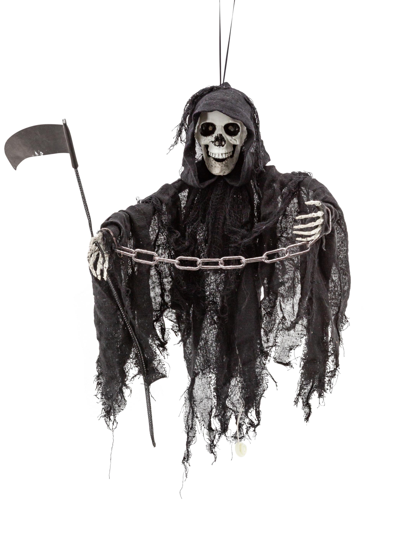 Skelett Sensenmann schwarz mit Funktion