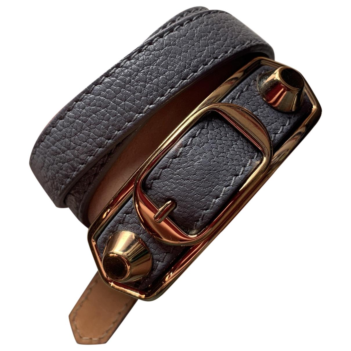 Balenciaga \N Blue Leather bracelet for Women \N
