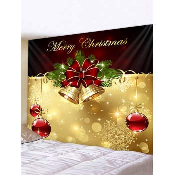 Merry Christmas Bell Print Wall Tapestry