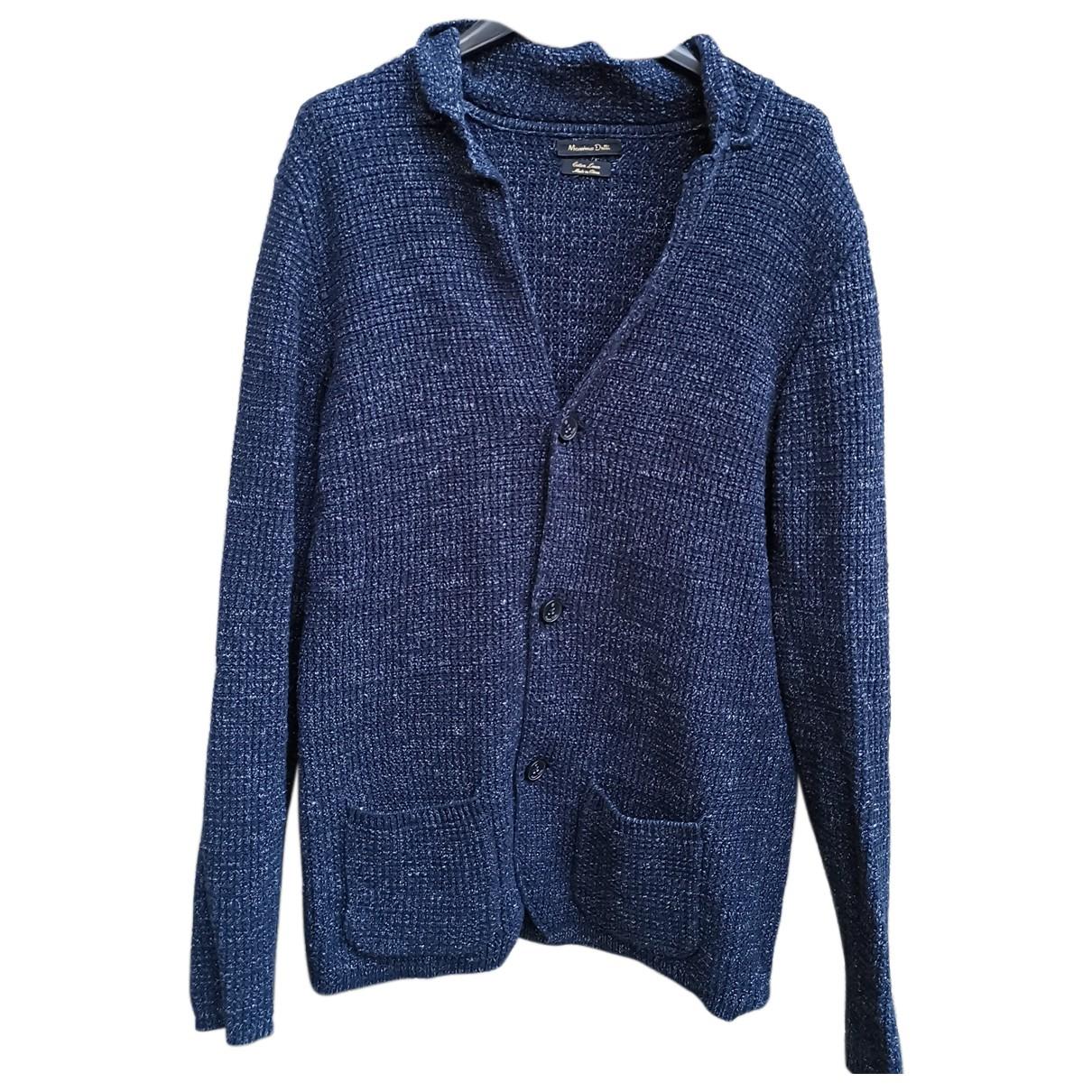 Massimo Dutti \N Pullover.Westen.Sweatshirts  in  Blau Baumwolle