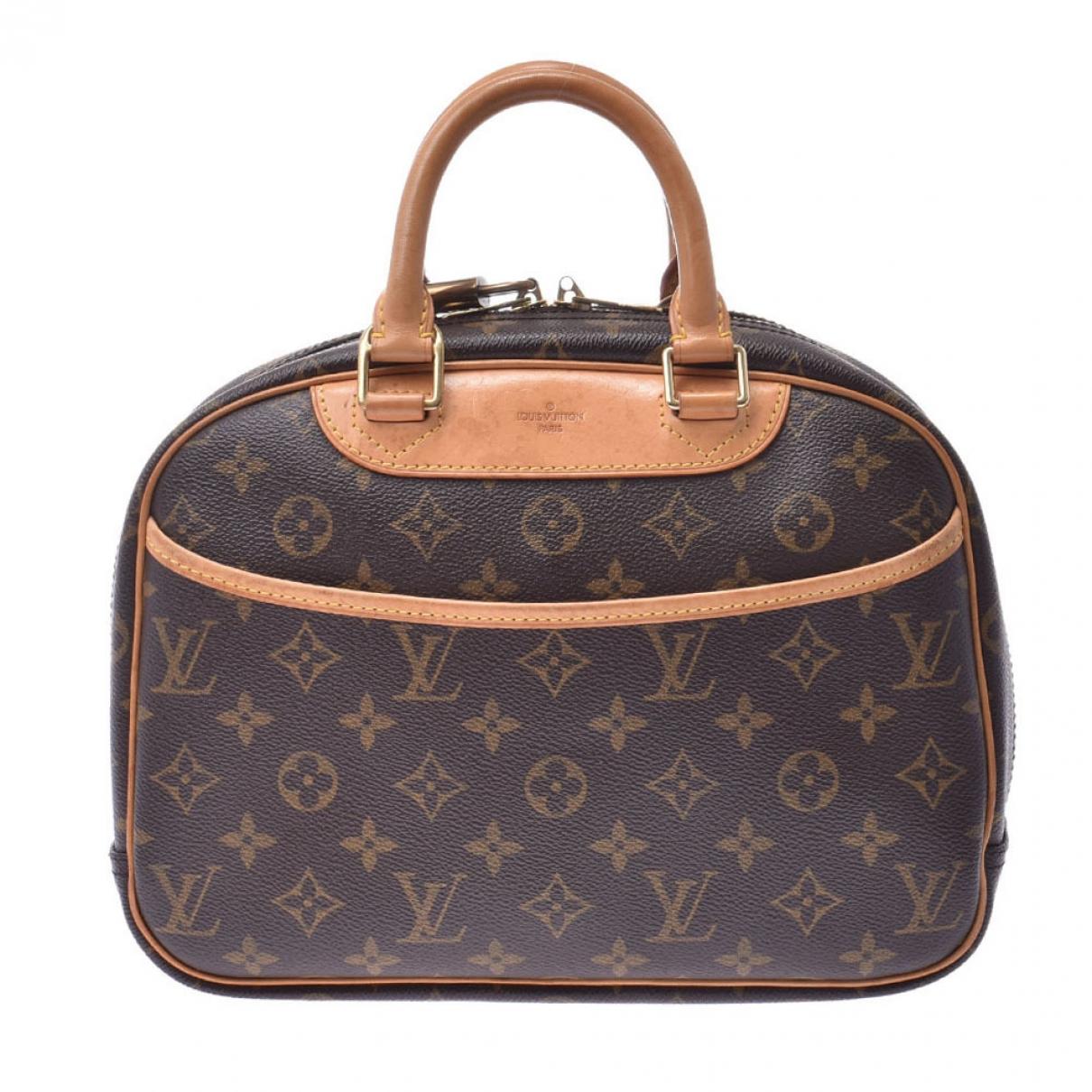 Louis Vuitton - Sac a main Trouville pour femme en toile - marron