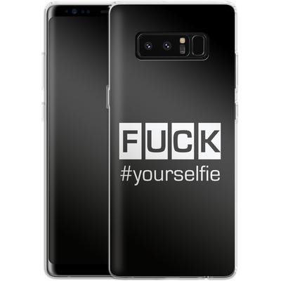 Samsung Galaxy Note 8 Silikon Handyhuelle - Fck Yourselfie von Statements