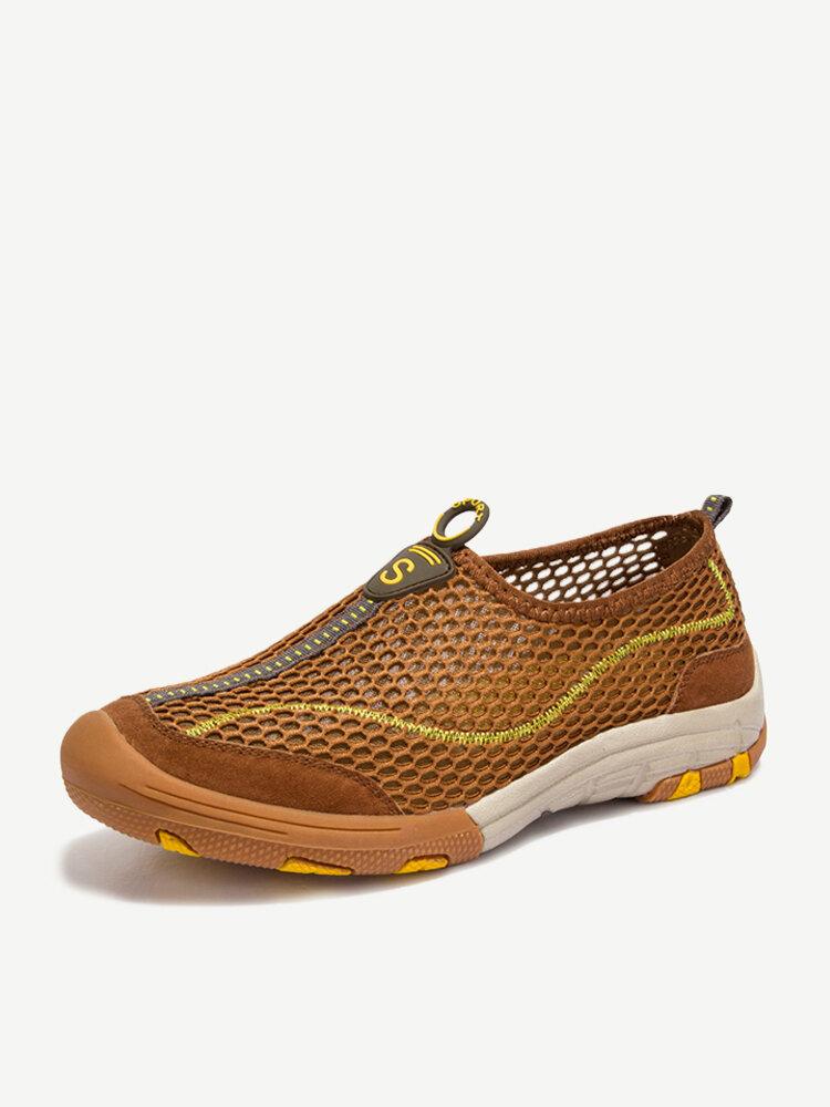 Men Mesh Breathable Outdoor Hiking Water Friendly Sneakers
