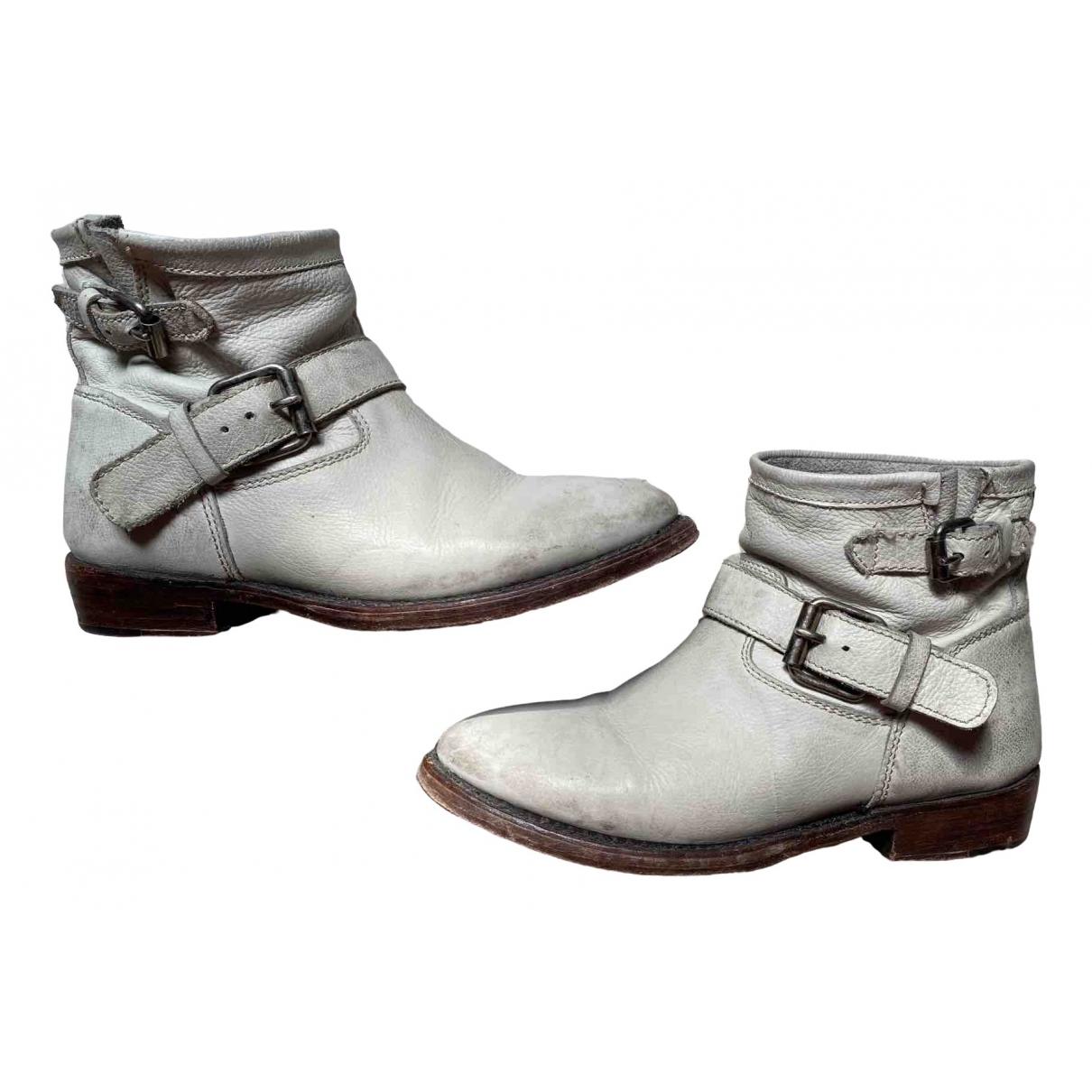 Ash - Bottes   pour femme en cuir - gris