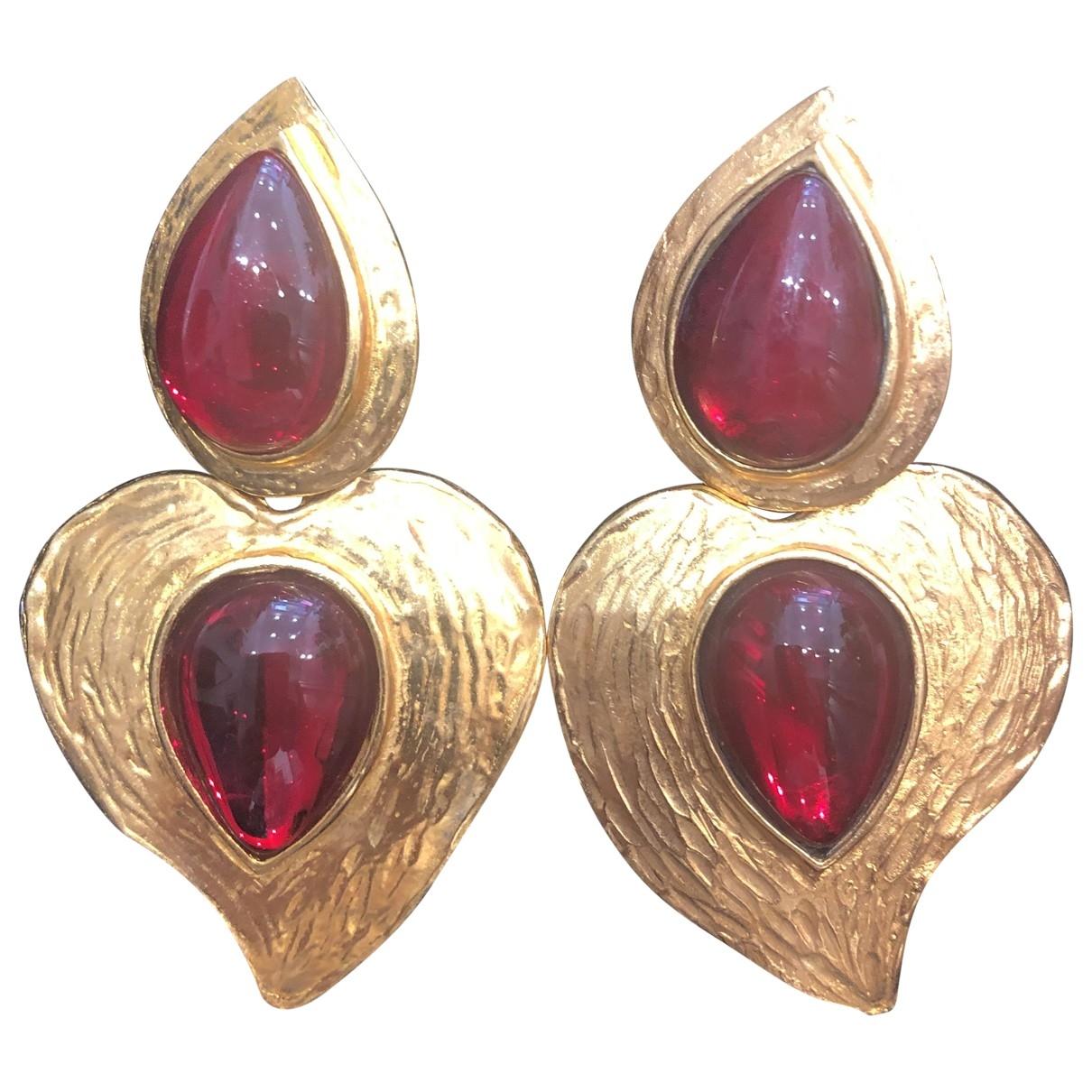 Yves Saint Laurent \N Red Metal Earrings for Women \N
