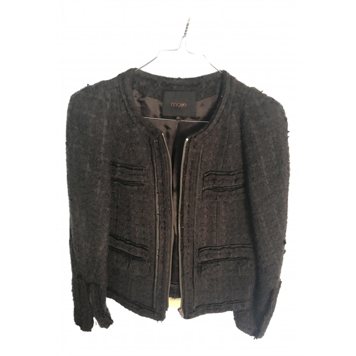 Maje - Veste   pour femme en laine - vert