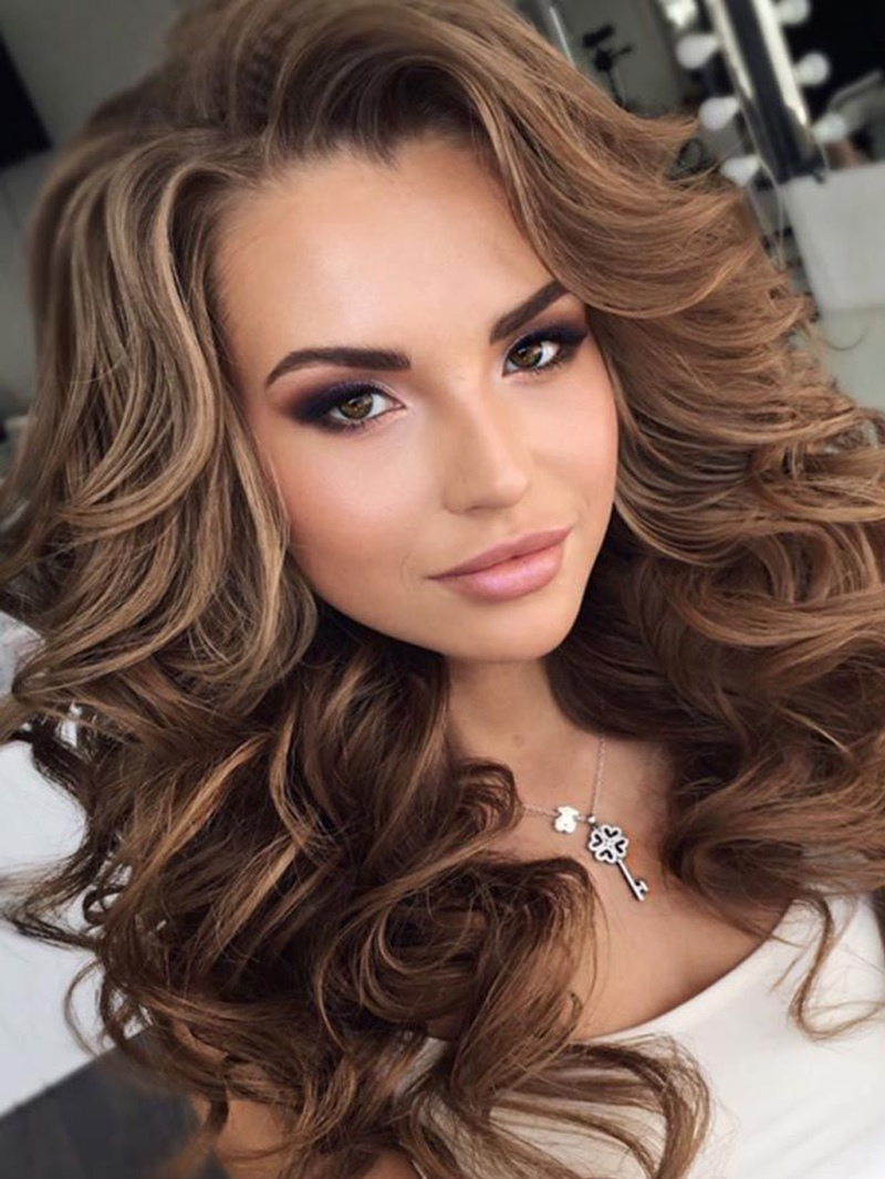 Ericdress Womens Long Length Big Curly Layered Hairstyle Synthetic Capless Wigs 24 Inches