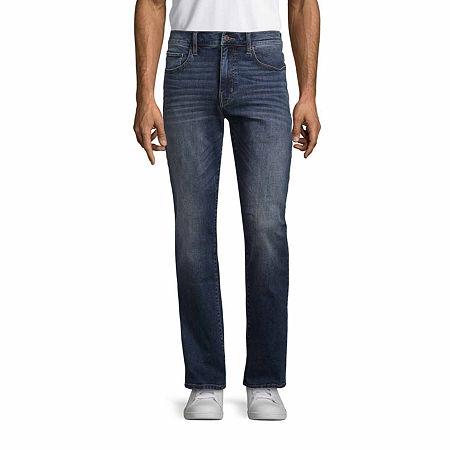 St. John's Bay Mens Stretch Slim Fit Jean, 36 29, Blue