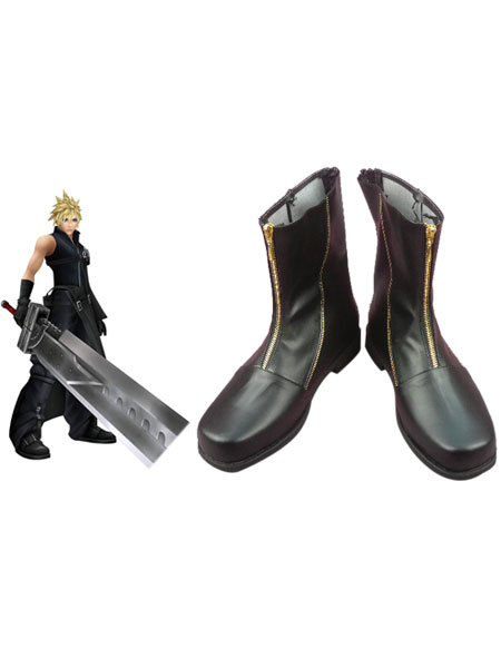 Milanoo Special Final Fantasy VII Cloud Strife Cosplay Boots Halloween