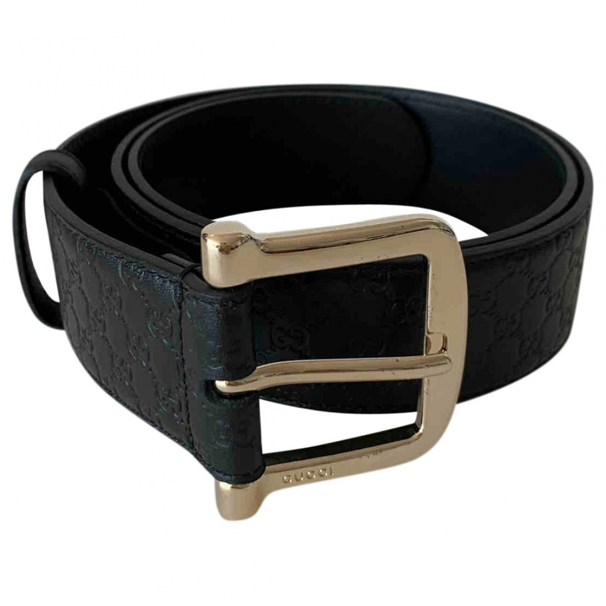 Gucci N Black Leather belt for Women 85 cm