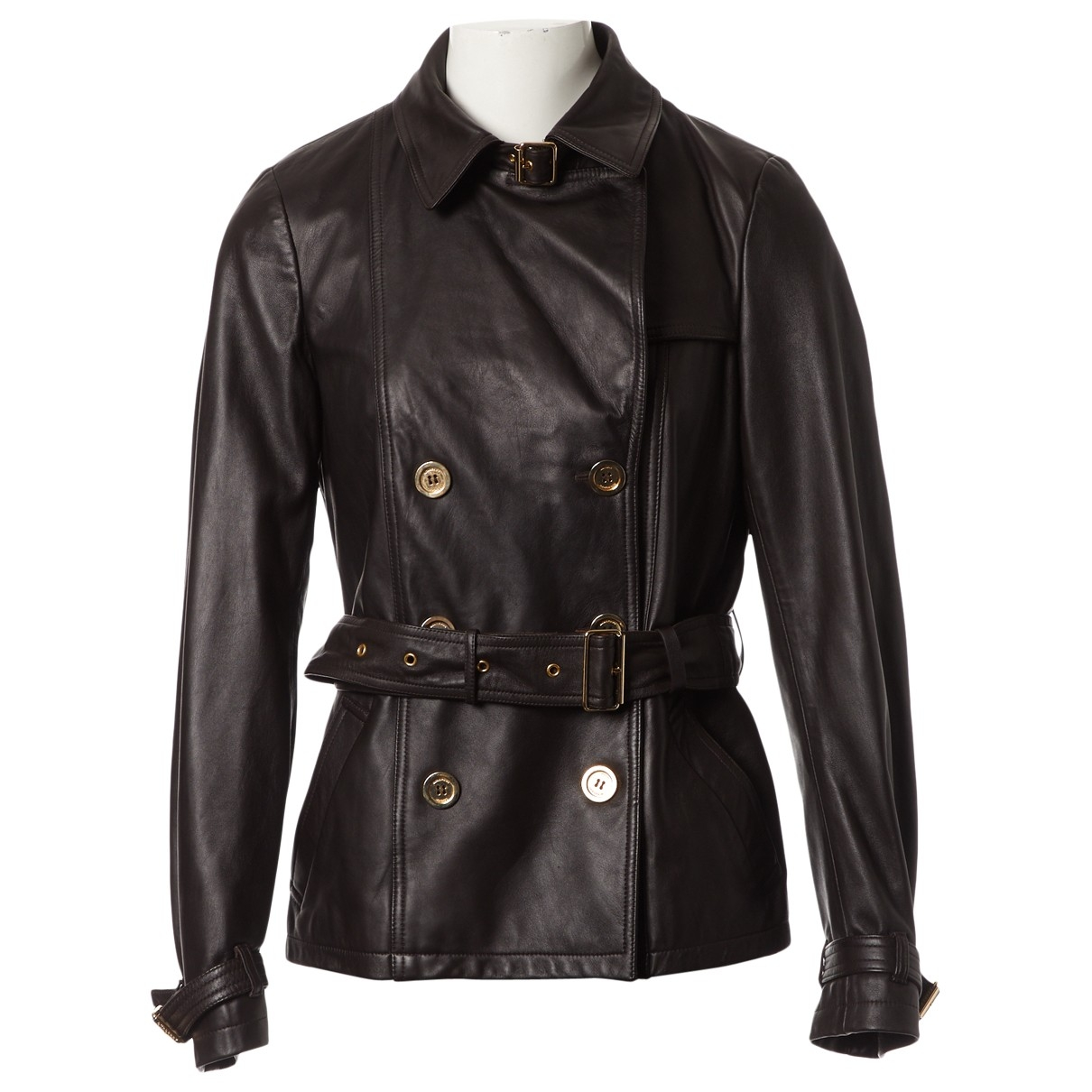 Burberry \N Brown Leather jacket for Women M International