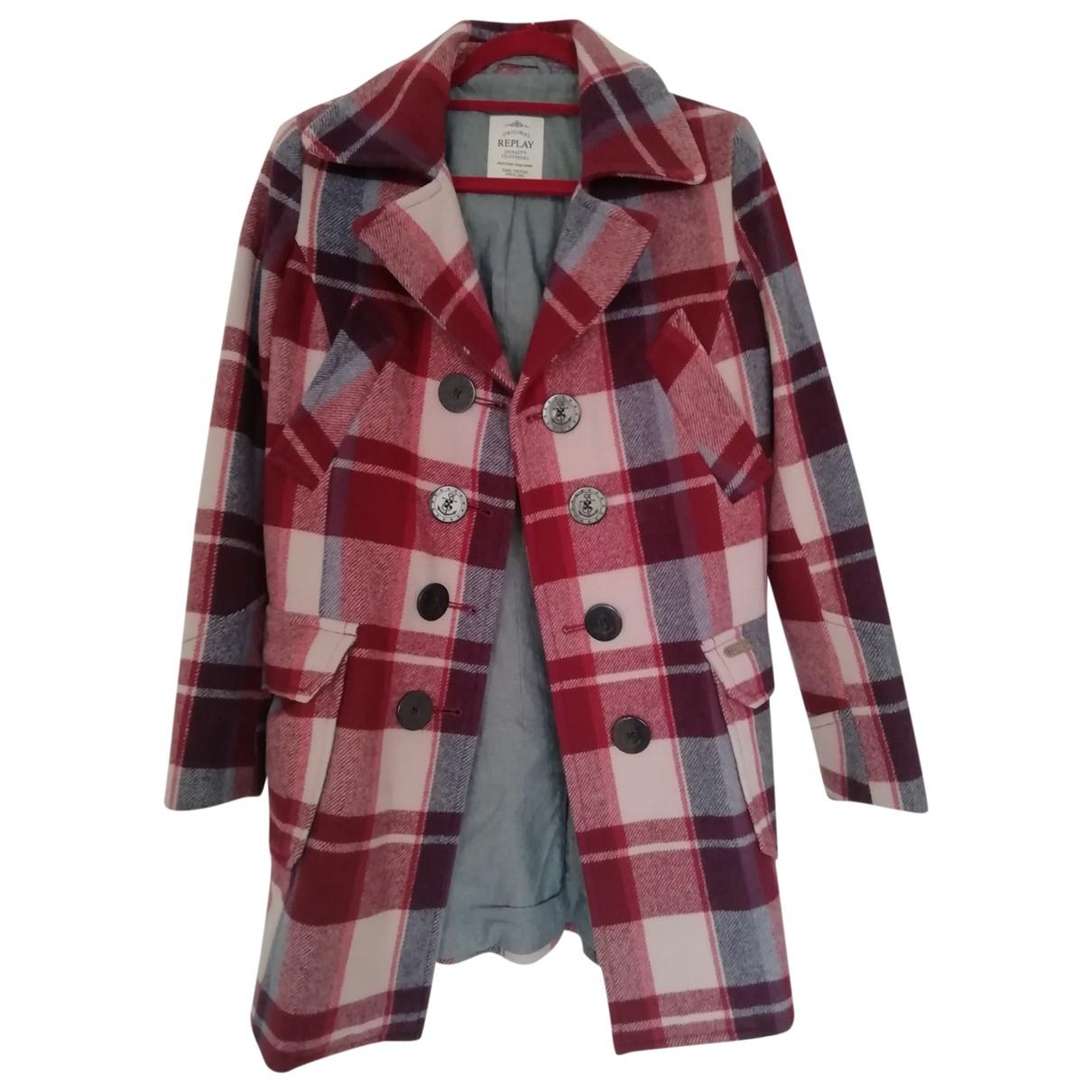 Replay - Manteau   pour femme en laine - multicolore