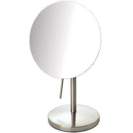 Sharper Image 5X Tabletop Makeup Mirror, One Size , Silver