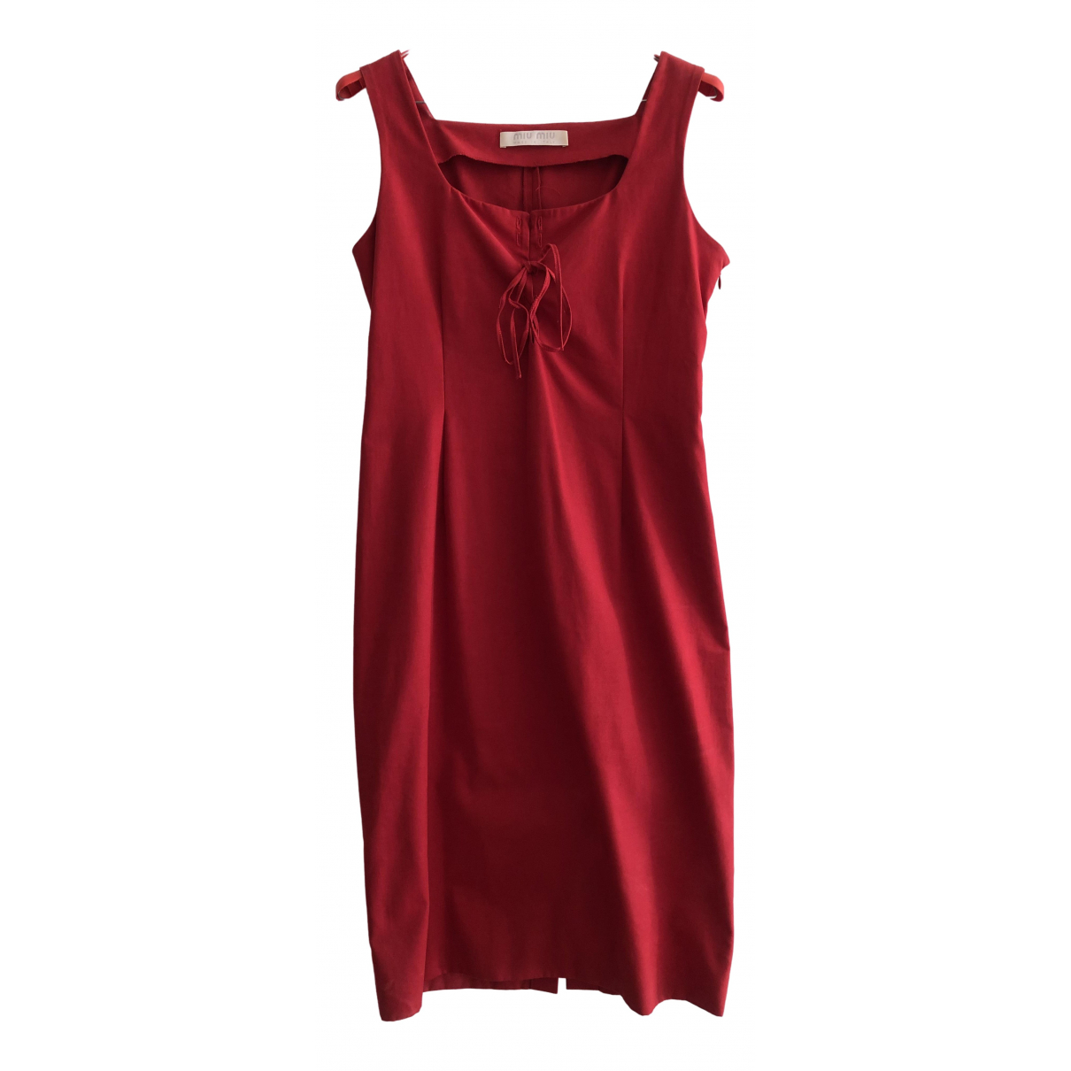 Miu Miu - Robe   pour femme en coton - rouge