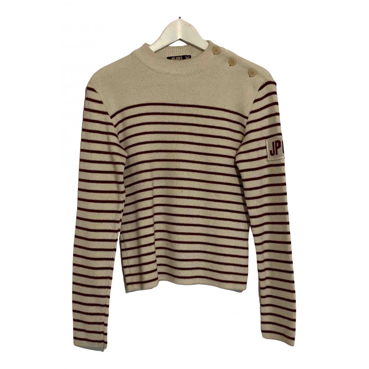 Jean Paul Gaultier - Pulls.Gilets.Sweats   pour homme en laine - blanc