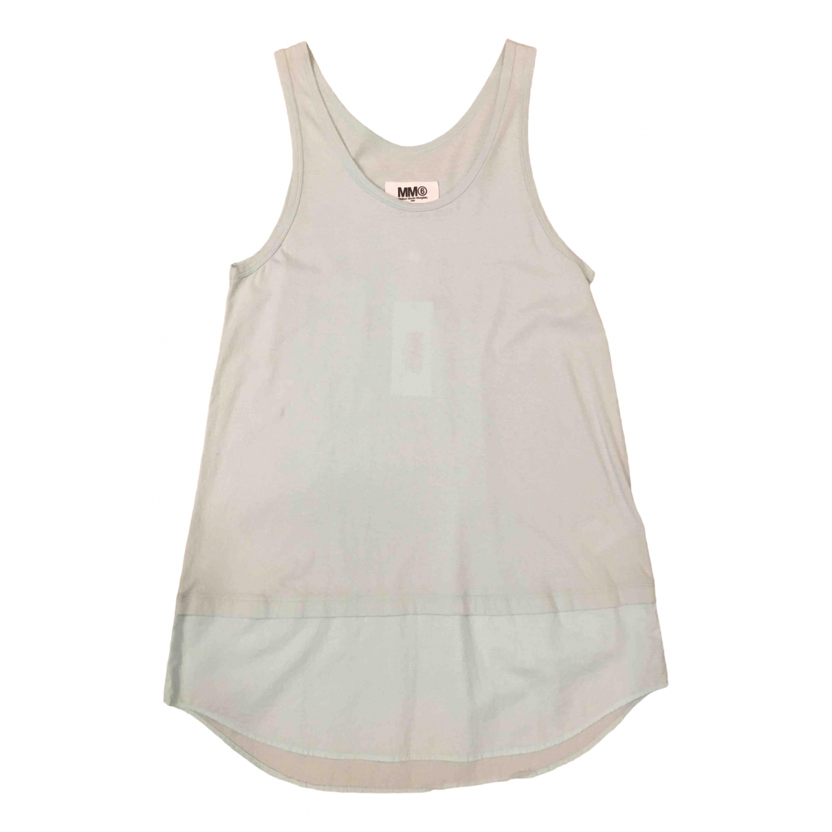 Mm6 \N Kleid in  Gruen Baumwolle